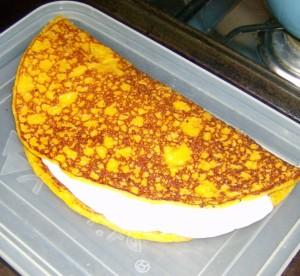 Panqueca de maíz tierno