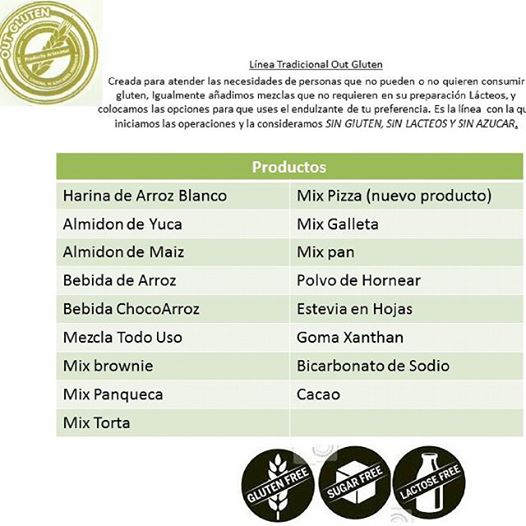 OUT GLUTEN productos