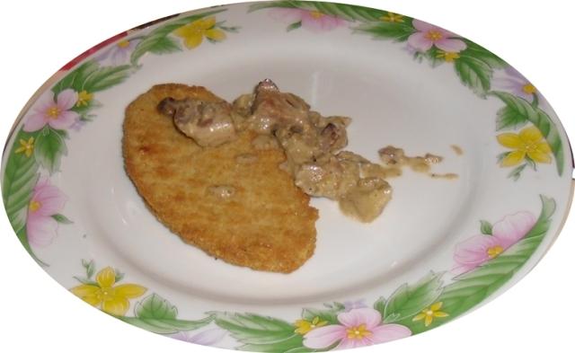 pollo con salsa manzana y berenjenas 005