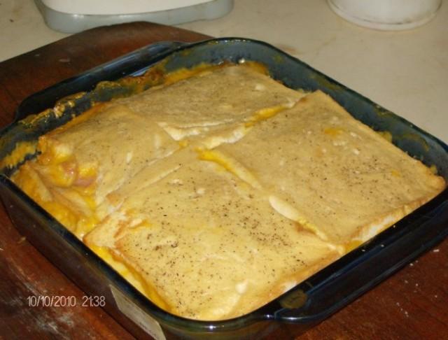 Torta de pan, jamón y queso 3 []