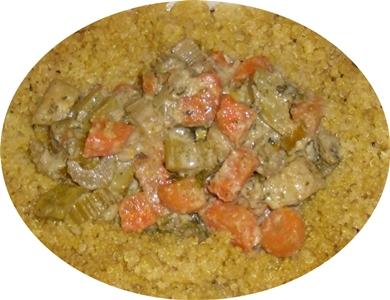 Quinoa con vegetales en salsa primavera 23