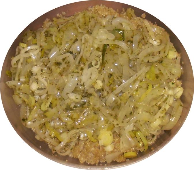 Quinoa con cebollas varias celiacos latinoamericanos - Salsas faciles de hacer ...