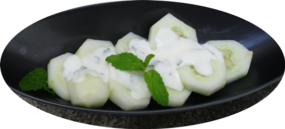 Ensalada pepinos con yogur 1
