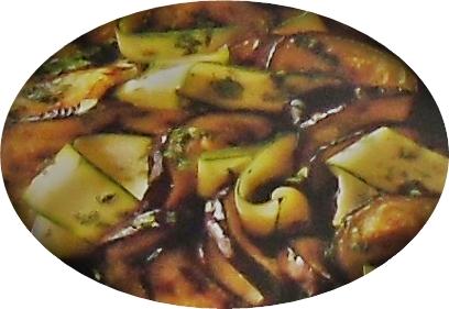 Ensalada de calabacines, berenjenas y cilantro 2