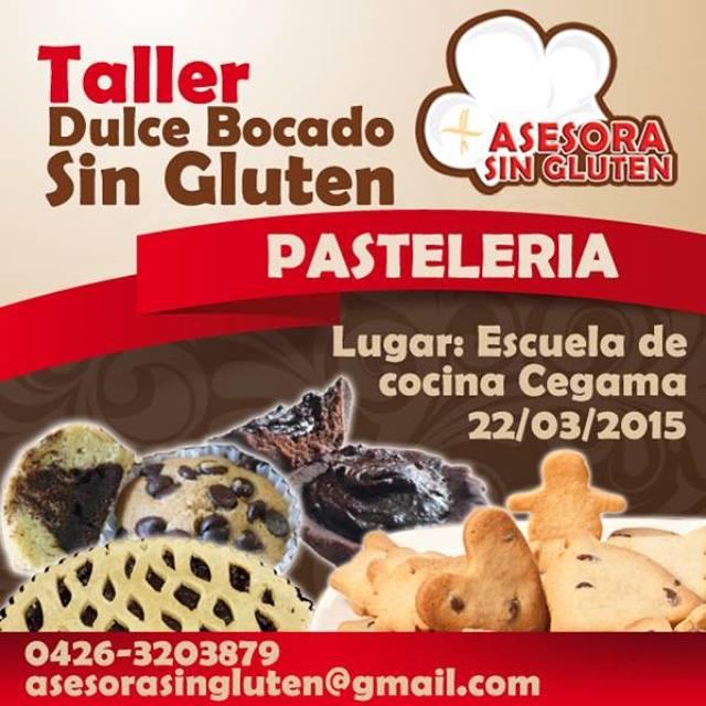 En Maracaibo, 22 de marzo, taller de pasteleria sin gluten