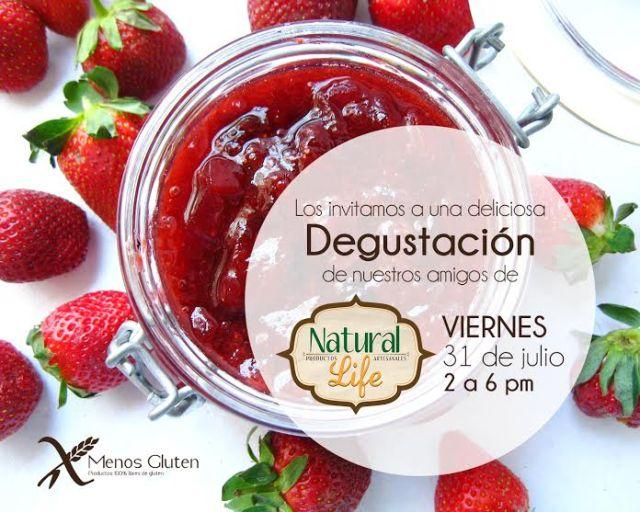 31 julio. Caracas,  2 a 6 pm.  degustacion de productos Natural Life  en MENOS GLUTEN Av. Circunvalación del sol, Centro Profesional Santa Paula, ÁREA COMERCIAL,  PB local N°10