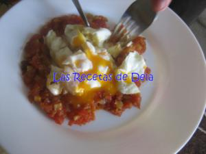 Pisto con calabacin y huevo 2